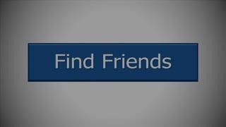 A close-up of social networking website friendship button. With optional luma matte.