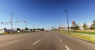 A driver's perspective headed to Cleveland, Ohio.