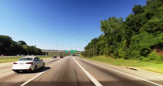 A driver's perspective traveling on I-480 headed to Cleveland, Ohio.