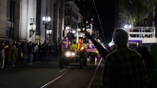A Float in a Mardi Gras Parade in New Orleans 4110