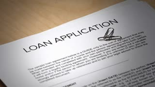 A loan application contract gets denied.
