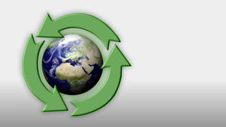 A recycling background plate.