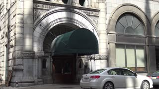 A typical New York style apartment, office building, or doctor's office entrance establishing shot.