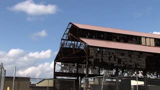 Abandoned Factory Time Lapse Establishing Shot