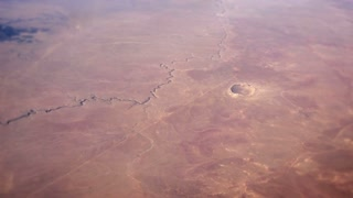 Aerial Meteor Crater 3722