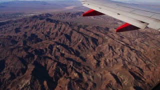 Aerial view from a jetliner of the American west.