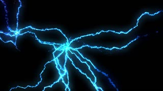 An abstract blue lightning electricity background. Loopable.