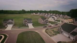 An aerial view of a typical Ohio neighborhood.