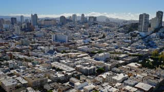 An aerial view of the Nob Hill area of San Francisco.