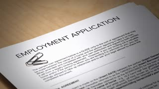 An employment application gets denied.