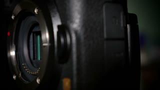 An extreme closeup of a camera's sensor.