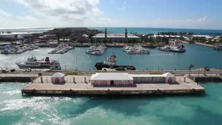 Bermuda Wharf Day Summer Establishing Shot