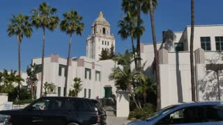 Beverly Hills City Hall Establishing Shot