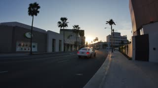 Beverly Hills Establishing Shot at Dusk