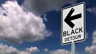 Black Detour Road Sign 749
