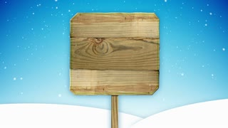 Blank Christmas Wooden Sign