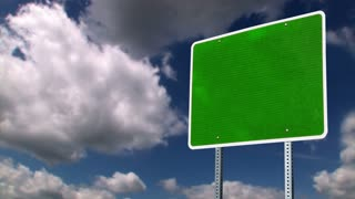 Blank Green Sign Background