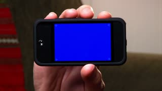 Blank Portable Media Player Blue Screen Detail