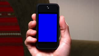 Blank Smartphone Blue Screen Detail