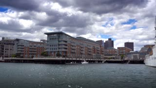 BOSTON, MA - Circa June, 2016 - A daytime establishing shot of the Battery Wharf Hotel Boston Waterfront.