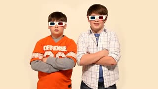 Young Boys Wearing 3D Glasses