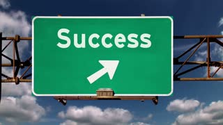 Business Success Road Sign 1942