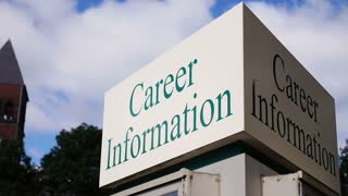 Career Information Sign Timelapse 3586