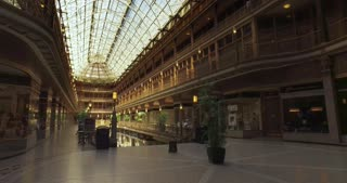 CLEVELAND - Circa September, 2016 - An interior establishing shot of the historical Arcade on Euclid Avenue in Cleveland, Ohio.