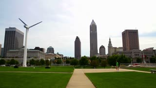 Cleveland, Ohio Skyline Establishing Shot