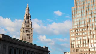 Cleveland  Terminal Tower Timelapse Day