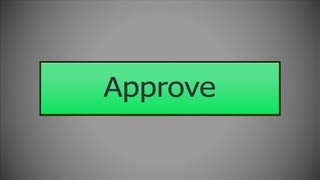 Clicking on an Approve button with a mouse cursor. With optional luma matte.