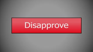 Clicking on an Disapprove button with a mouse cursor. With optional luma matte.
