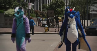 Colorful Furries Ready for Anthrocon
