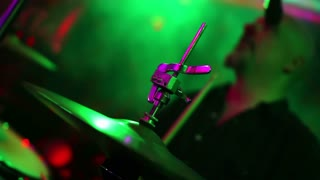 Concert Drummer Defocused Background Band