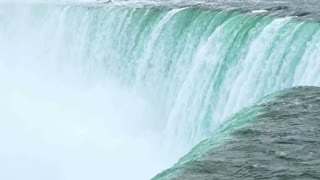 Crest of Horseshoe Falls at Niagara Falls. Shot at 96fps slow motion.