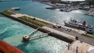 Cruise Liner Dock Day Establishing Shot