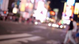 Defocused Times Square Activity