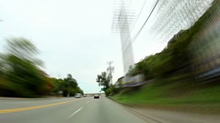 Driving Downtown Pittsburgh Timelapse