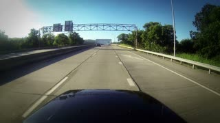 Driving Over Bridge POV