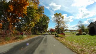 Driving POV Country Road  POV Fisheye Wide Angle
