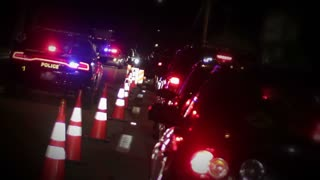 DUI Sobriety Checkpoint  at Night