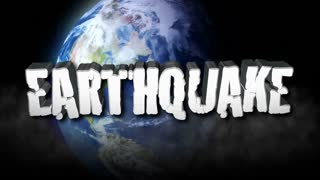 Earthquake Title 3D with Earth in Space