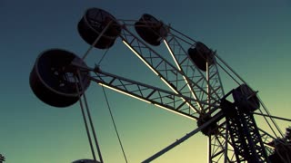 Ferris Wheel in Carnival at Dusk