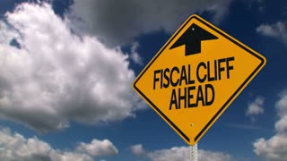 Fiscal Cliff Ahead Sign 3633