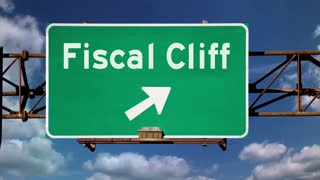 Fiscal Cliff Warning Sign 3636