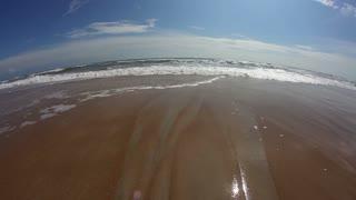 Fisheye Beach Ocean Waves Surf Wide Angle