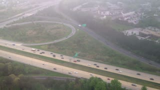 Flying Above a Highway