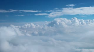 Flying High Through the Clouds Aerial Background