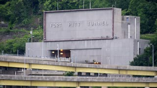 Fort Pitt Tunnel Establishing Shot