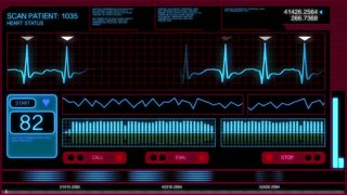 Futuristic Heart Monitor Screen 2469